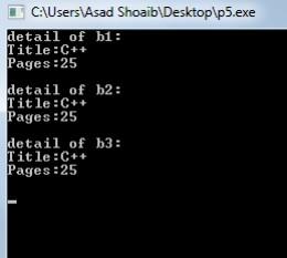 Copy constructor example