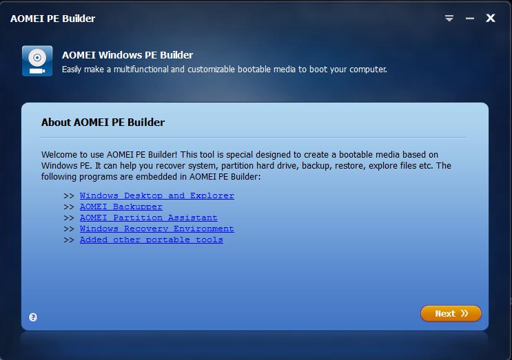 AOMEI PE Builder Review - Create Customized Bootable